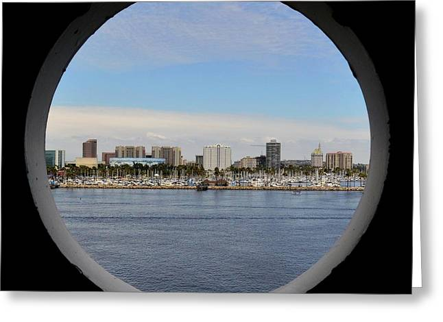 Looking Through The Queen's Porthole Greeting Card by KJ Swan