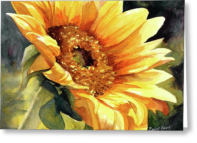 Sun Flower Greeting Cards - Looking to the Sun Greeting Card by Bonnie Rinier