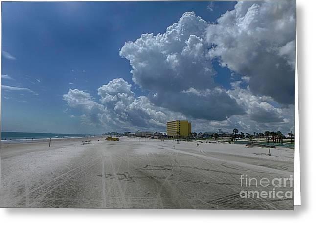 Looking Toward Daytona Beach Shores Greeting Card by Judy Hall-Folde