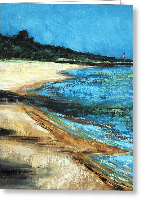 Greeting Card featuring the painting Looking Toward Old Glory by Suzanne McKee