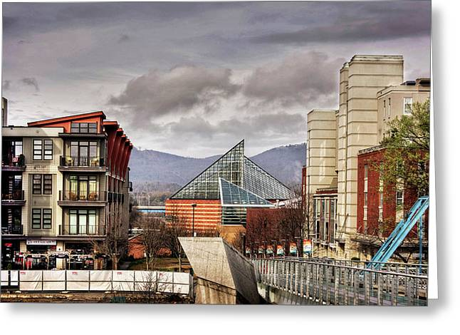 Looking Toward The Tennessee Aquarium Greeting Card by Greg Mimbs
