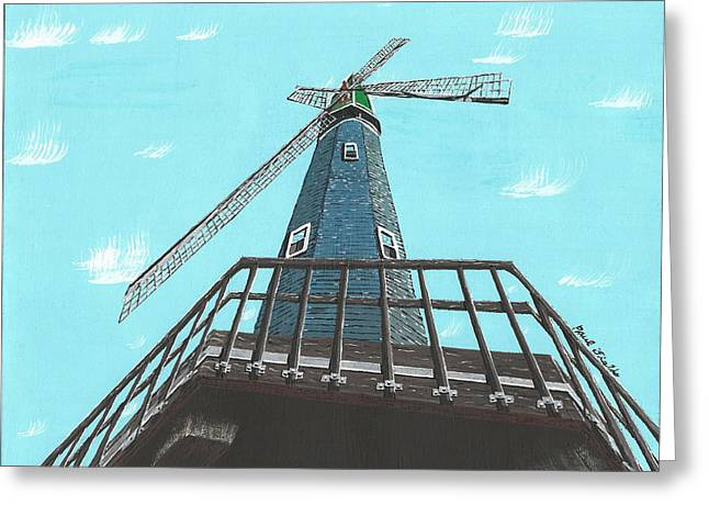 Looking Up At A Windmill Greeting Card