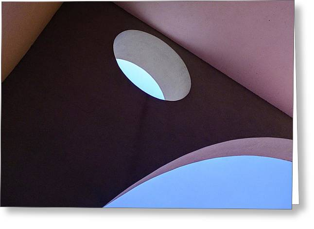 Looking Up At Strange Architecture In Sanford Florida Greeting Card