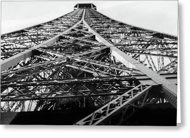 Looking Up From The Eiffel Tower Greeting Card