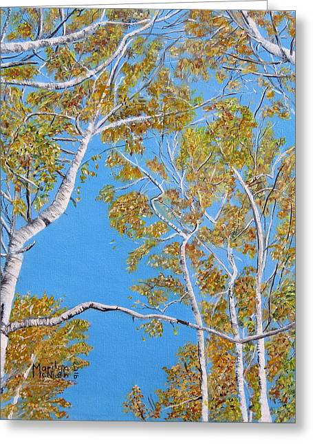 Looking Up Greeting Card by Marilyn McNish