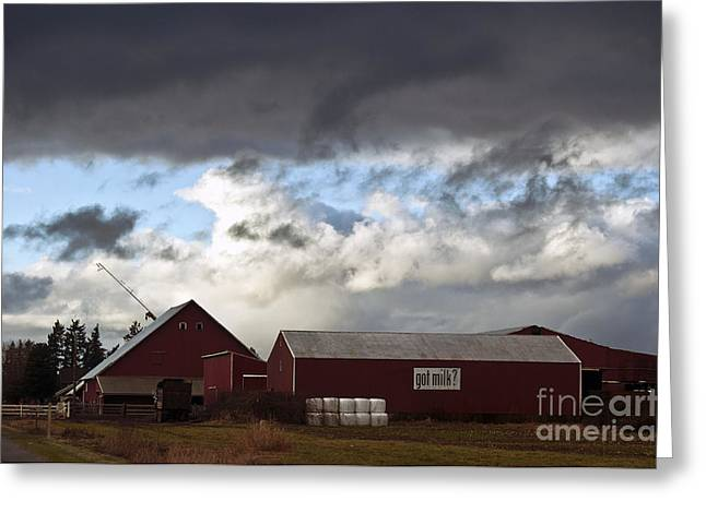 Looming Storm In Sumas Washington Greeting Card by Clayton Bruster
