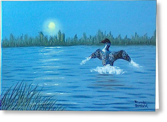 Loon Dance Greeting Card
