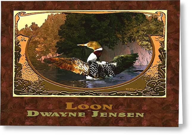 Loon Greeting Card by Dwayne Jensen