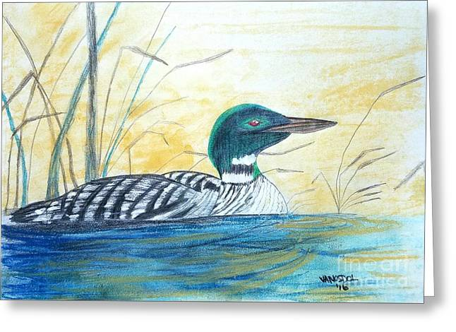Loon On The Lake Greeting Card