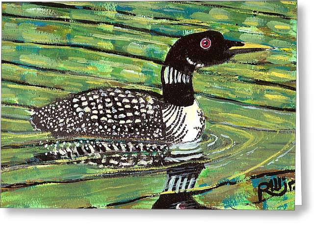 Loon Greeting Card by Robert Wolverton Jr