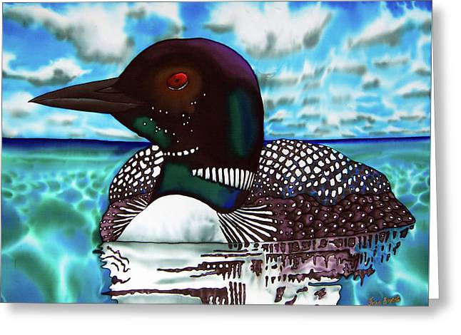 Loon Under A Canadian Sky Greeting Card by Daniel Jean-Baptiste