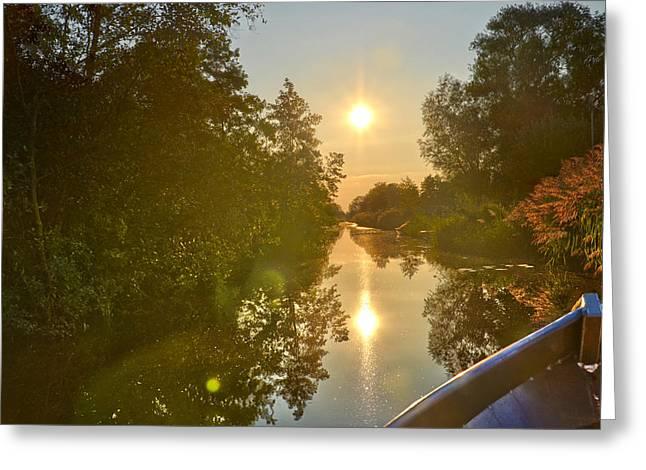 Loosdrecht Boat Trip Greeting Card