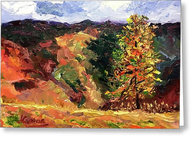 Loose Landscape Greeting Card by Janet Garcia