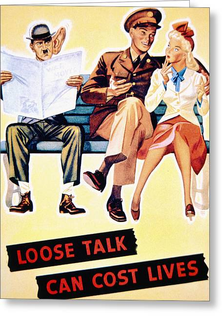 Loose Talk Can Cost Lives Greeting Card by American School