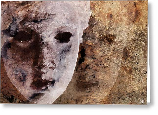 Greeting Card featuring the digital art Loosing The Real You Behind The Mask by Gun Legler