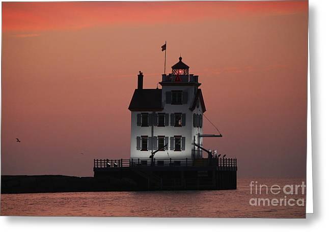 Lorain Lighthouse 1 Greeting Card