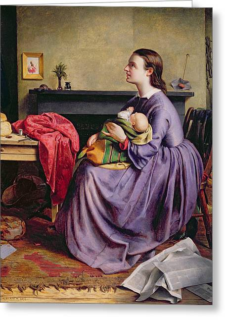 Table Greeting Cards - Lord - Thy Will Be Done Greeting Card by Philip Hermogenes Calderon