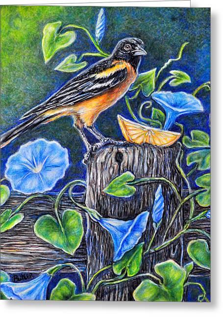 Lord Baltimore's Breakfast Greeting Card by Gail Butler