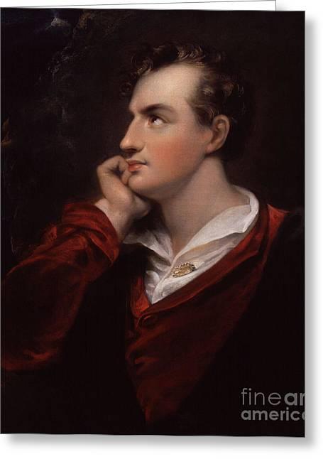 Lord Byron, English Romantic Poet Greeting Card