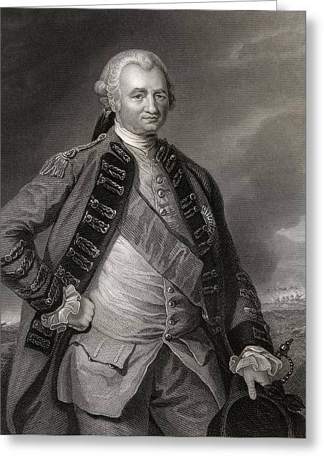 Lord Clive Engraving From A Painting By Greeting Card by Vintage Design Pics