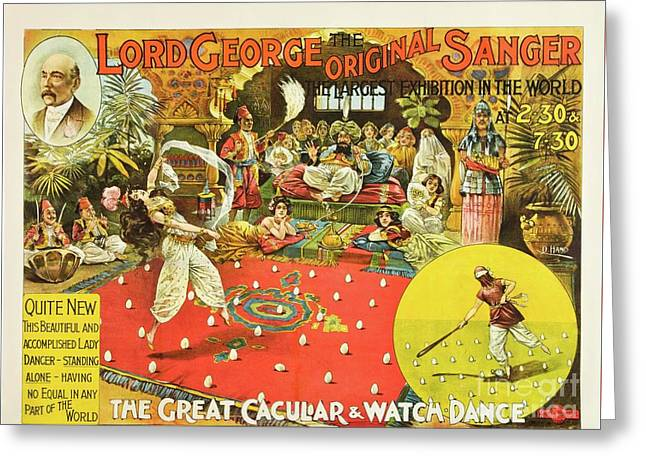 Lord George Sanger Victorian Circus Greeting Card