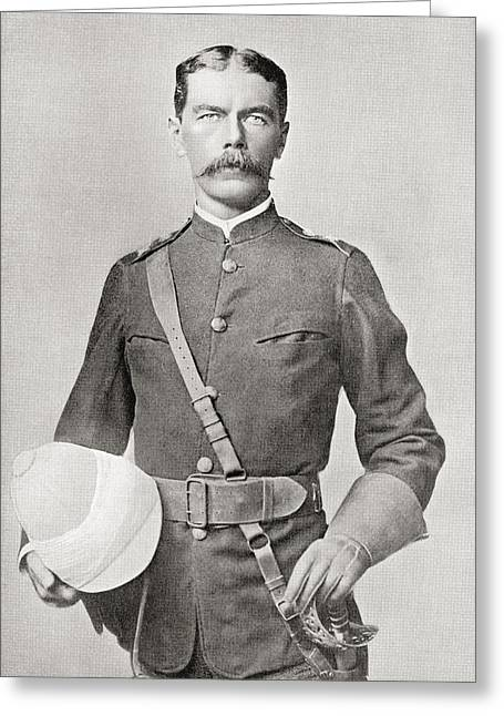 Lord Kitchener In 1882 As Major Greeting Card by Vintage Design Pics