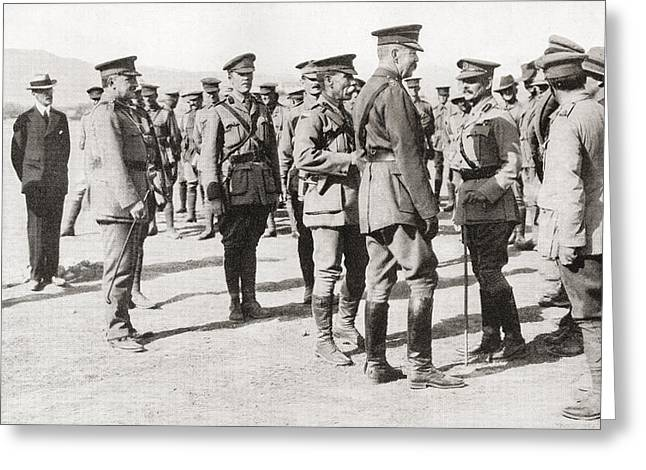 Lord Kitchener S Visit To Gallipoli Greeting Card by Vintage Design Pics
