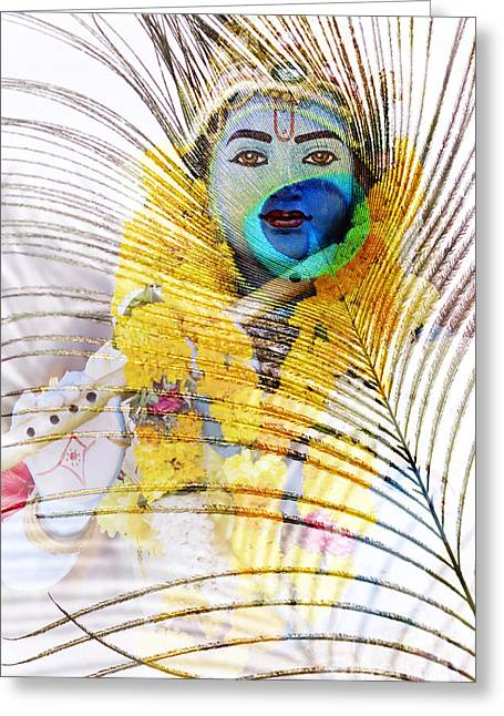 Lord Krishna Greeting Card by Tim Gainey