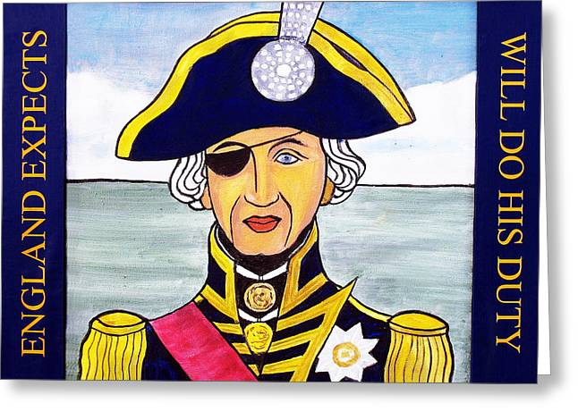 Lord Nelson Paintings Greeting Cards - Lord Nelson Greeting Card by Paul Helm