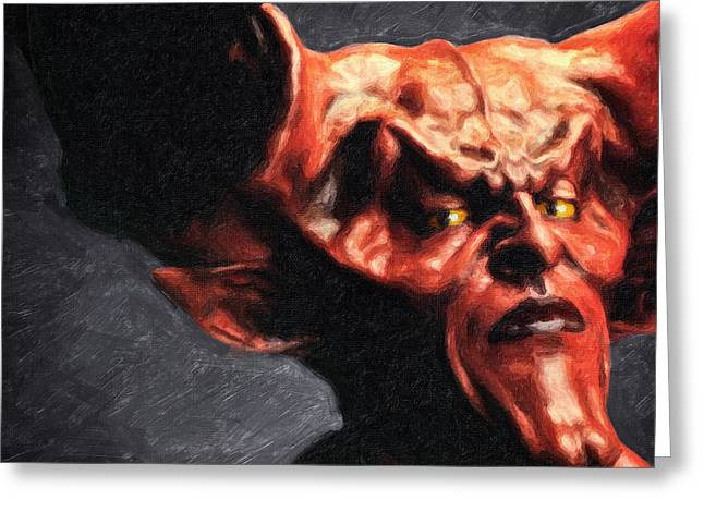 Lord Of Darkness Greeting Card
