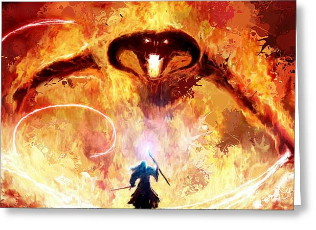 Lord Of The Rings Balrog Greeting Card