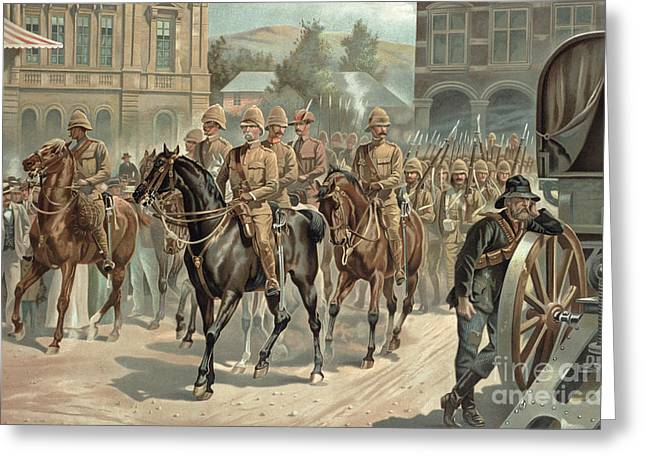 Lord Roberts Entry Into Pretoria Greeting Card by Richard Caton Woodville