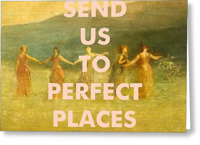 Lorde Lyrics Art Print Greeting Card
