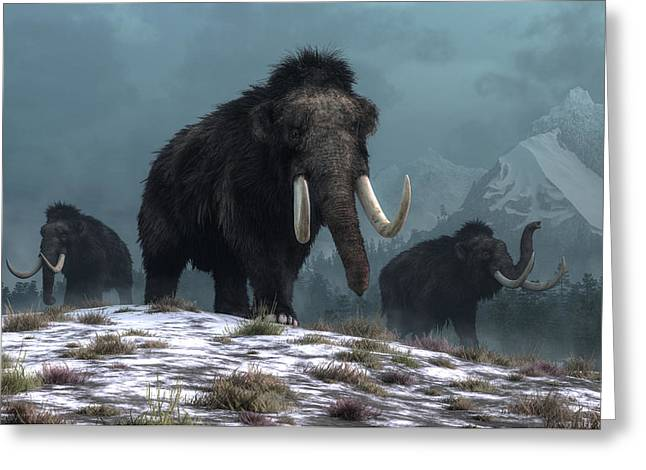 Lords Of The Ice Age Greeting Card by Daniel Eskridge