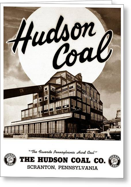 Loree Colliery Larksville Pa. Hudson Coal Co  Greeting Card