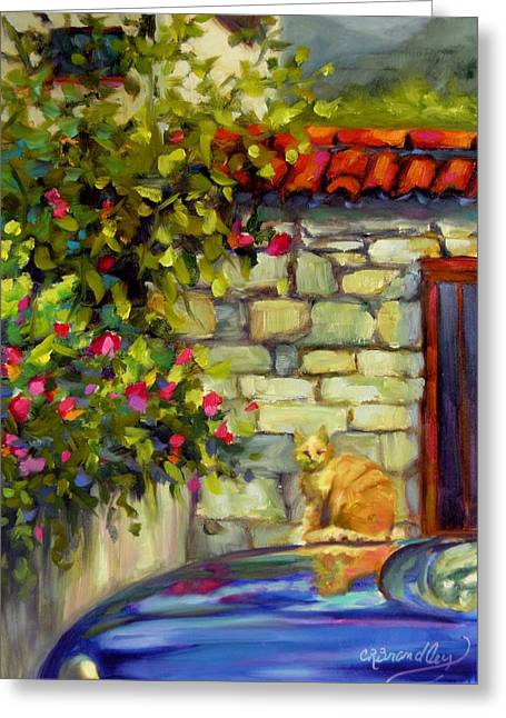 Greeting Card featuring the painting Lorenzo by Chris Brandley