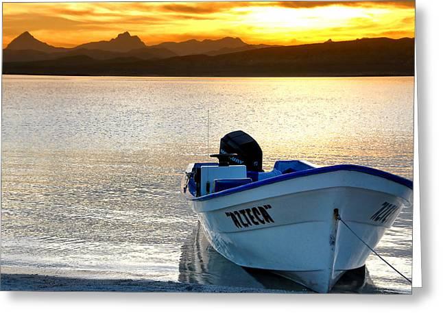 Loreto Panga At Sunset Greeting Card by Scott Massey