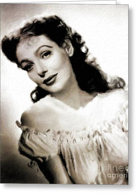 Loretta Young, Vintage Actress Greeting Card