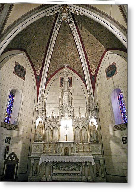Loretto Chapel Santa Fe Greeting Card by Kurt Van Wagner