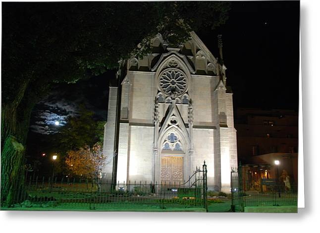 Greeting Card featuring the photograph Loretto Church In Santa Fe by Irina ArchAngelSkaya