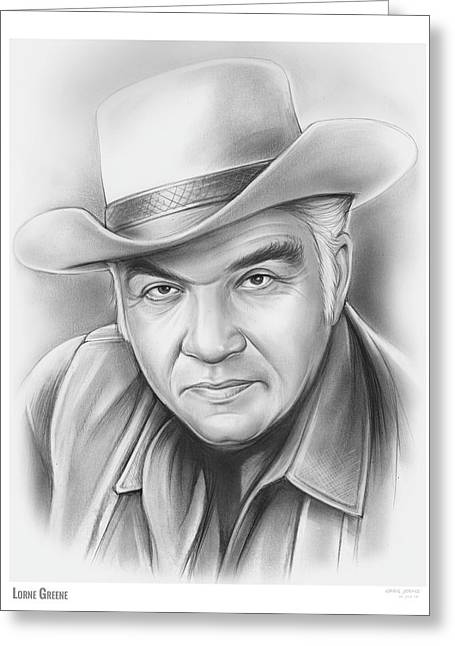 Lorne Greene Greeting Card