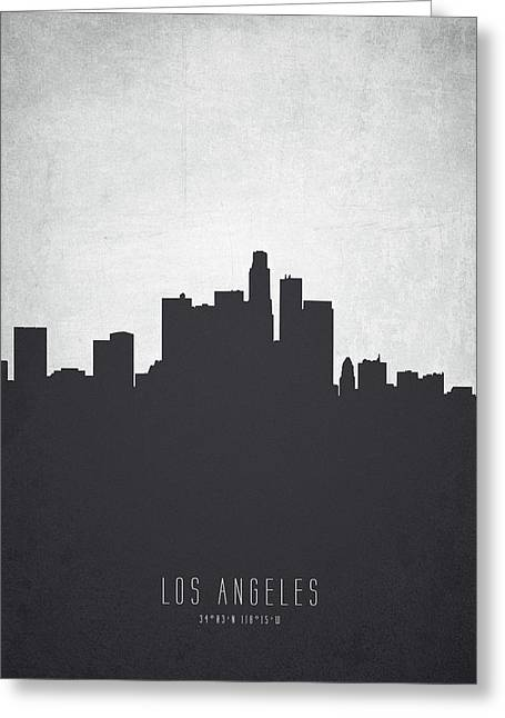 Los Angeles California Cityscape 19 Greeting Card