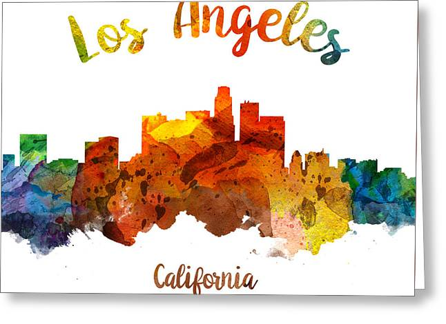 Los Angeles California Skyline 26 Greeting Card