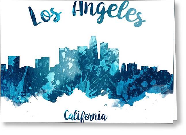 Los Angeles California Skyline 27 Greeting Card