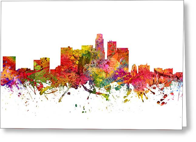 Los Angeles Cityscape 08 Greeting Card