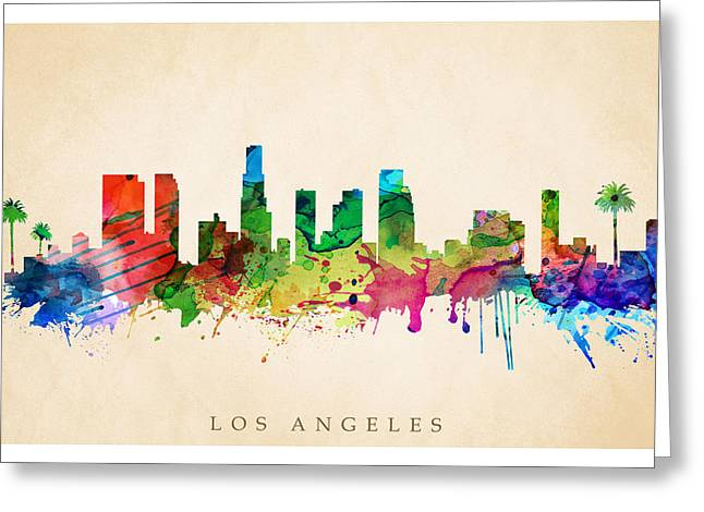 Los Angeles Cityscape Greeting Card