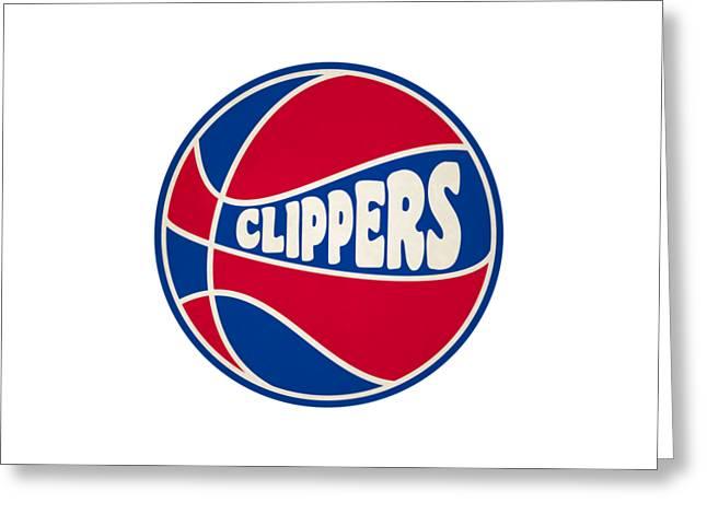 Los Angeles Clippers Retro Shirt Greeting Card by Joe Hamilton