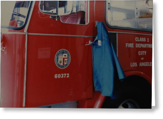 Los Angeles Fire Department Greeting Card by Rob Hans