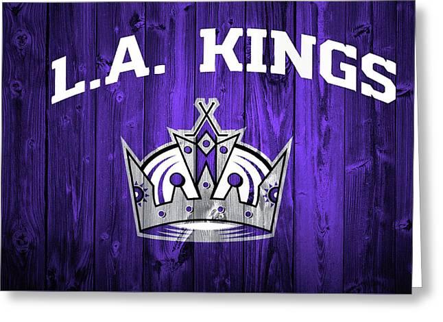 Los Angeles Kings Barn Door Greeting Card