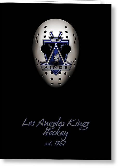 Los Angeles Kings Established Greeting Card by Joe Hamilton